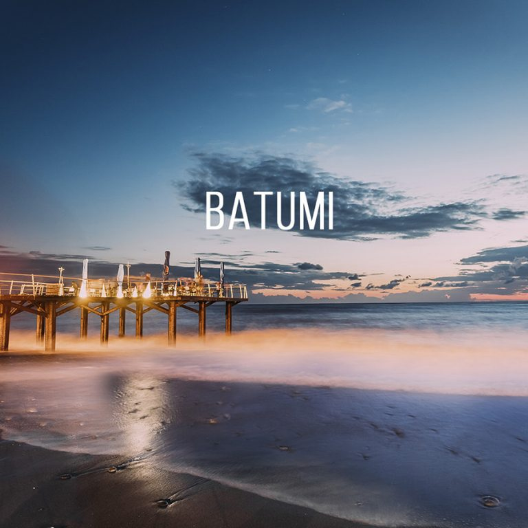 Batumi beach, how to get by rented car