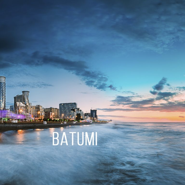 View of the city of Batumi. How to get to Batumi by rental car